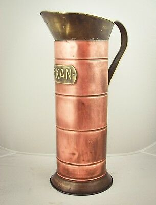 Copper DUTCH Coal Ash Scuttle Fireplace Bucket Brass Umbrella stand