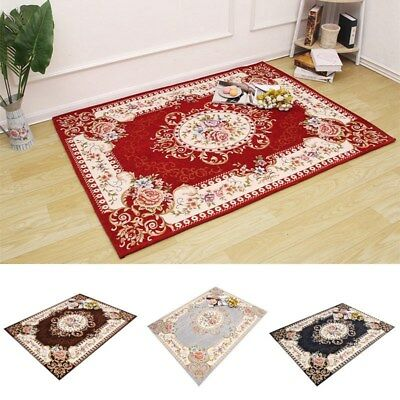 1PC Floral Printed Living Room Carpet Bedroom Area Rug Anti-skid European Style
