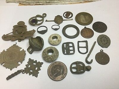 Assortment Of Metal Detecting Finds.
