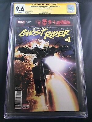 Damnation: Johnny Blaze - Ghost Rider #1 Signed/Remarked by Clayton Crain