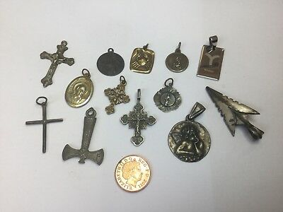 Assortment Of Chain Pendants. Metal Detecting Finds.