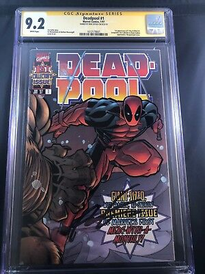 Deadpool #1 (1997) CGC 9.2 SIGNED by ROB LIEFELD 1st App Of Blind Al
