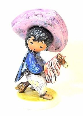 "Goebel DeGrazia My First Horse Figurine W Germany Hand Painted 6"" Retired"