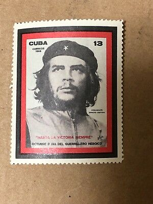 First stamp issued in the world about Che Guevara, 1968 Mint