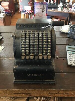 Vintage Old Adding Machine Called The American
