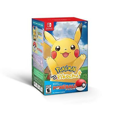 Pokemon Let's Go Pikachu! + Poke Ball Plus Pack Bundle in Hands Ready to Ship