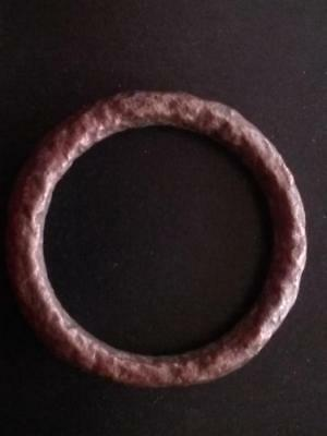 Large 26mm Genuine Ancient CELTIC Bronze Ring Money ~600 BC #6