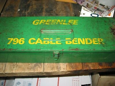 GREENLEE #796 Ratcheting CABLE BENDER w/ Steel CASE