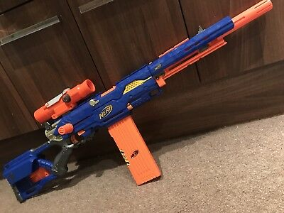 Nerf Longstrike Cs-6 Rare Vgc With Darts, Scope & 18 Dart Magazine