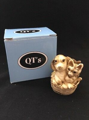 MPS Harmony Kingdom QTs Pets Dog Puppy And Cats Kittens Figurine Best Pals