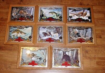 Old Milwaukee Beer Mirrors sign, WILDLIFE SERIES Set of all 8 in Great Condition