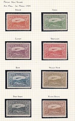 Commonwealth. New Guinea. 1935-39 issues. THREE PAGES.   Mint.