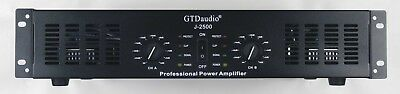 GTD Audio 2 Channel 2500 Watts Professional Power Amplifier Amp Stereo J2500