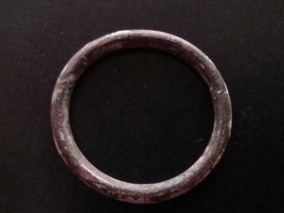 21mm Authentic Ancient CELTIC Bronze Ring Money ~600 BC #13