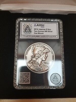 2014 Jeanne D'Arc Two Ounces 999 Silver One Bit coin UNFUNDED