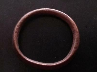 25mm Authentic Ancient CELTIC Bronze Ring Money ~600 BC #16