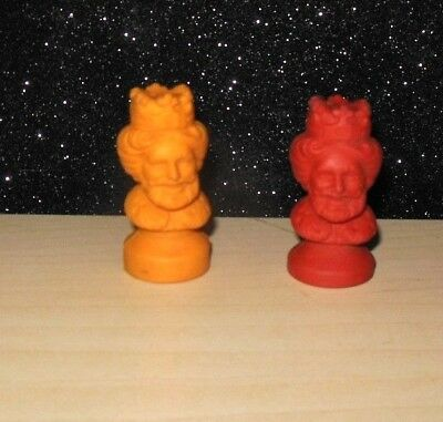 Lot of 2 Vintage 1979 Burger King Rubber Eraser Pencil Toppers Great Condition