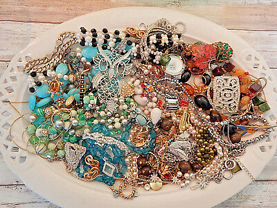 HUGE lot of vintage estate jewelry over 3 lbs.