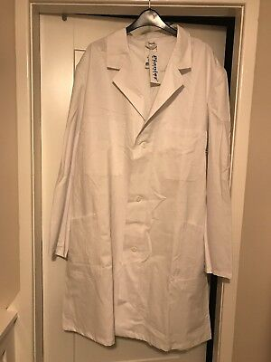 White Lab Coat Scientist Doctor Dentist  Possibly Halloween Costume BNWT