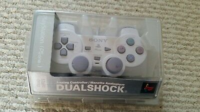 NEW official Sony PlayStation Dualshock Controller PSone PS1 PS2 Light Grey