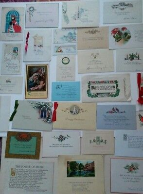 Vintage 1920s Era Christmas Card & Tag Lot Crafts Art 31 Pieces Total