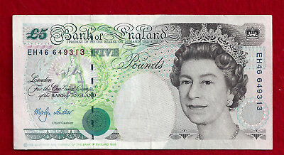 1990 - 2002 Great Britain 5 Pound Note, P-382c