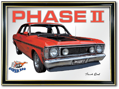 Bar Mirror Ford Falcon Xw Gt Ho Phase 2 Barware Auto Collectable Sign Art Metal