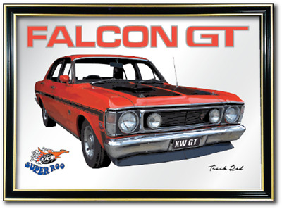 Bar Mirror Ford Falcon Xw Gt Barware Auto Collectible Sign Art Metal Mancave