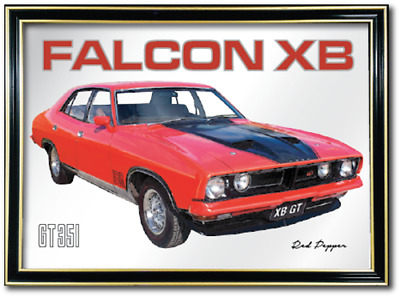 Bar Mirror Ford Falcon Xb Gt Barware Sign Auto Collectable Art Mancave Metal