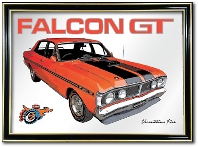 Bar Mirror Ford Falcon Xy Gt Barware Wall Sign Art Collectable Metal Picture