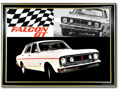Bar Mirror Ford Falcon Xt Gt Barware Auto Collectable Sign Art Mancave Metal