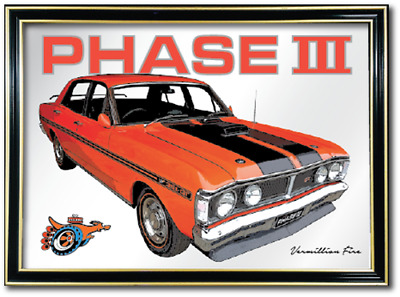 Bar Mirror Ford Falcon Xy Gt Ho Phase Barware Auto Collectable Sign Art Mancave