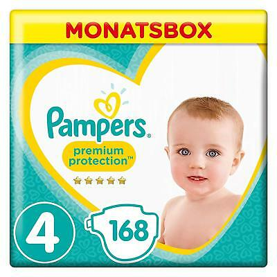 Pampers Premium Protection Size 4 Nappies Mega Saving Pack 168 Diapers 9-14 kg
