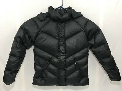 Women's Nike Duck Down and Feathers Puffer Quilted Coat Jacket Black XL 16-18
