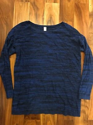 Old Navy Maternity Sweater Large Blue Black