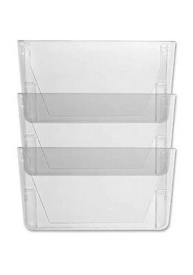 3 Clear Sparco Mountable Wall File Pockets - SPR60001 - Organizers - Never Used