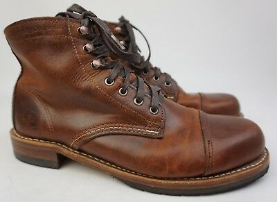 57f06dadfa7 WOLVERINE 1000 MILE Adrian Cap Toe Brown Leather Men s Boot Size 8 D ...
