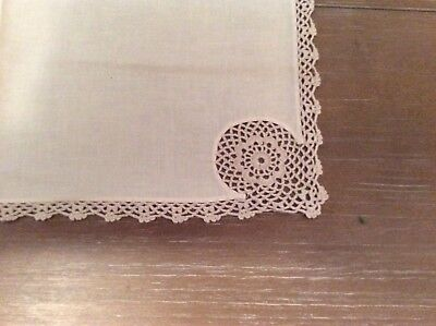 Old or Antique One dozen hand made napkins in lovely condition