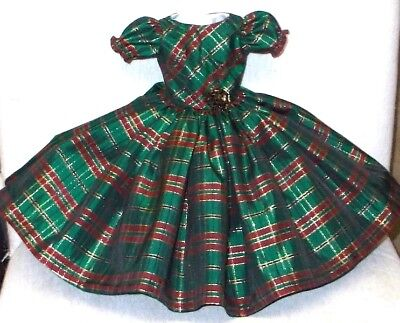 "20""  CISSY  Miss REVLON  FASHION   Clothes   GORGEOUS   PLAID  TAFFETA  DRESS #2"