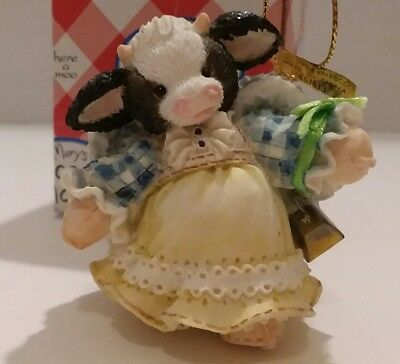 Mary's Moo Moos Hanging Ornament Angel With Bell 651613Enesco 1994