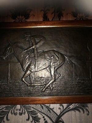 bronze plaque  Picture Race Horse By Seamus Connolly