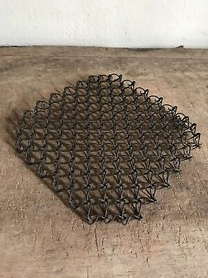 Antique Handmade Metal Wire Thick Large Trivet Country Kitchen Primitive AAFA