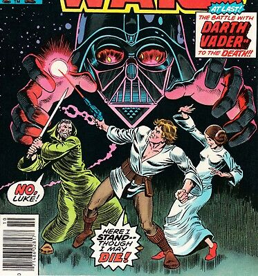 "STAR WARS #4 ""In Battle with Darth Vader!""1ST PRINT MARVEL COMICS BOOK VF (1977)"