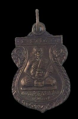 Gorgeous Thai Amulet Pendant Yant Protection Lp Bua Wat Satue Good Luck Talisman