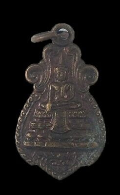Good Luck Pendant Lp Wat Raikhing Thai Amulet Luck Wealth Rich Talisman