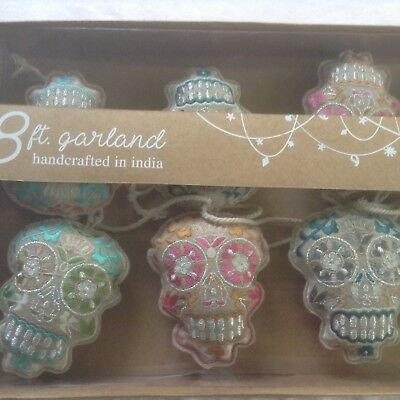 Day of the Dead / Dia De Los Muertos  SUGAR SKULL Garland. - 8ft