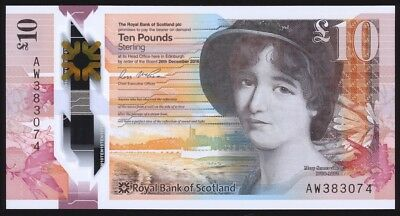 Scotland 10 Pounds 2016 P371 Uncirculated