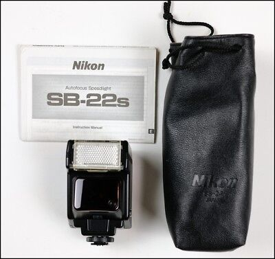 Excellent Nikon Speedlight SB-22s Shoe Mount Flash w/ Manual, Pouch - from USA