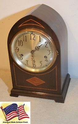 Fully Restored Seth Thomas Mahogany Mid-Size Antique Chime Clock No. 95-1926