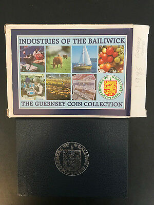 1985 Guernsey Coin Collection with COA Booklet *****FREE SHIPPING*****
